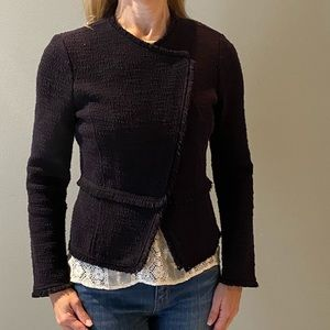 Tweed moto style jacket
